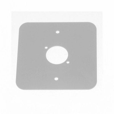 D/Plate Single S/Grey punched for 1 x  XLR Rounded Corners 81511-RCS