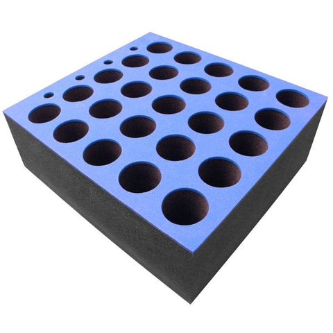 Foam Insert for 25 Microphones fits 6U R/Drawer M6001