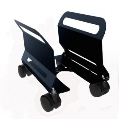 Adjustable PC Trolley Black with Swivel/Braked Castors CPU-23B
