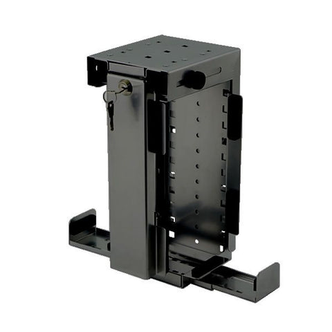Slimline Rigid Locking Computer Holder Black CPU-87B/L-SLIM