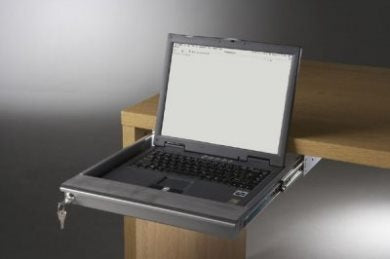 "Laptop Security Drawer 350mm/13.78"" Silver EX-6101S"