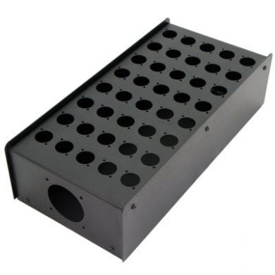 40 Hole Stage Box Punched for D-Series Connectors R2350-40