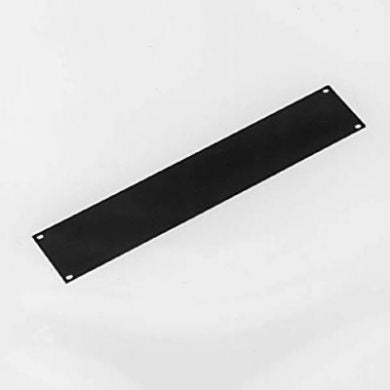 2U Rack Panel Aluminium Flat Black R1275/2UK
