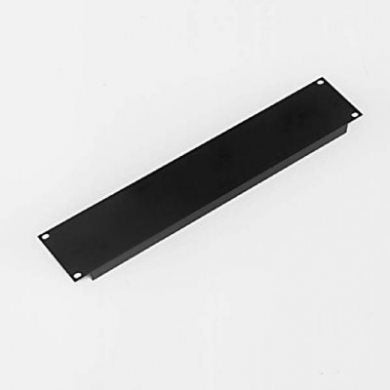 2U Rack Panel Aluminium Formed Black R1267/2UK