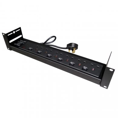 6 Way Rack Mount PDU with Individually Switchable Outlets PDU6SW