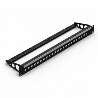 1U Rack Panel Punched for 24 BNC Connectors Cable Support Bar R2280-1U-24