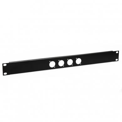 1U Rack Panel Punched for 4 x XLR or SpeakON R1269/1UK/04