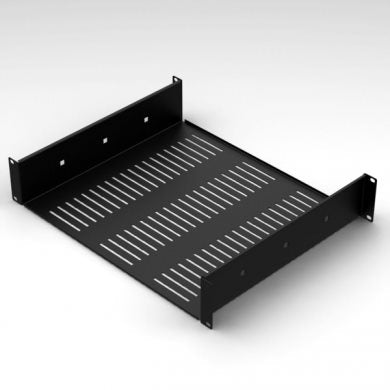 "1U Vented Rack Shelf With Rear Support 388mm/15.28"" Deep RSU01"