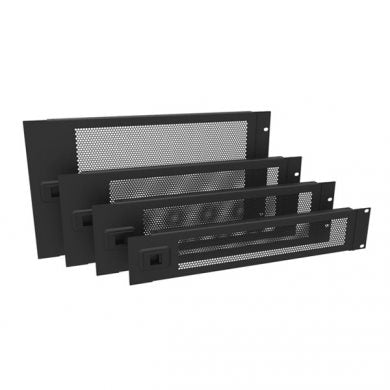 2U Rack Panel Hinged Perforated Black R1272/2UVK