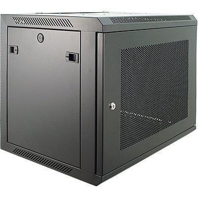 12U Wall Mount Rack Enclosure 450mm/17.72 Deep Perforated Door WMP-6412BK
