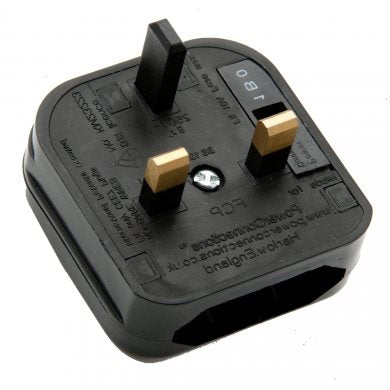 FCP UK Plug Blk Converter Non Removable for Europlug with 5A fuse FCP-BK-5A
