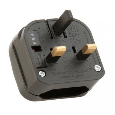 PCP UK Plug Blk Converter  3A for Transformer PCP-BK-R-3A