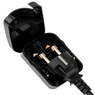 SCP3 UK Plug Converter Black 13A for 3 Pin Schuko with Earth SCP3-BK-R-13A
