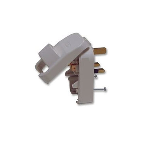 Mains UK Plug White Converter 13A for 3 Pin Schuko with Earth SCP3-WH-R-13A