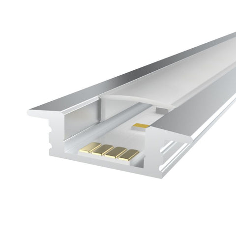 1m Kit 12.2mm Recessed Aluminium Profile LEDAL08