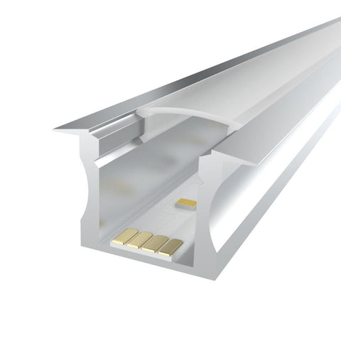 1m kit 15mm Recessed Aluminium Profile LEDAL14