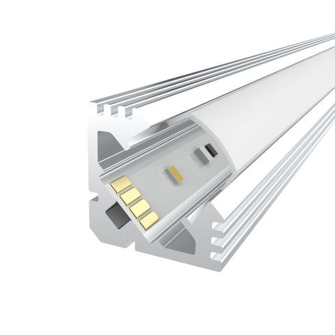 1m Kit 19mm Aluminium Corner Profile LEDAL11