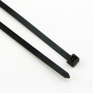 Pack of 100 x Black Cable Ties (200mm x 3.6mm) CBT004