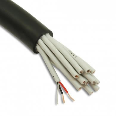 Mic Multicore Cable 12 Pair AES-EBU Black for DMX & Analogue 4007120