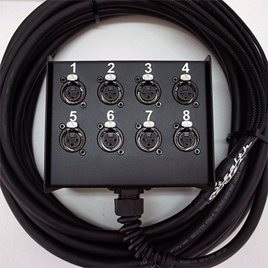 30M Stealth Series Multi-core 8 Channel Box To Braided Tails