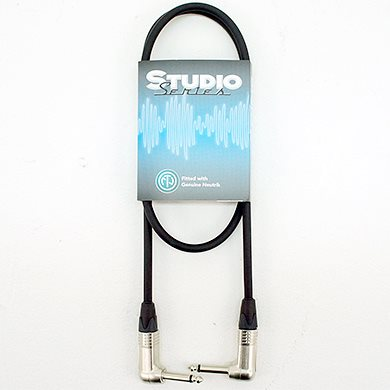 1M Studio Series Lo Noise Guitar/ins Lead Right Angled Connector