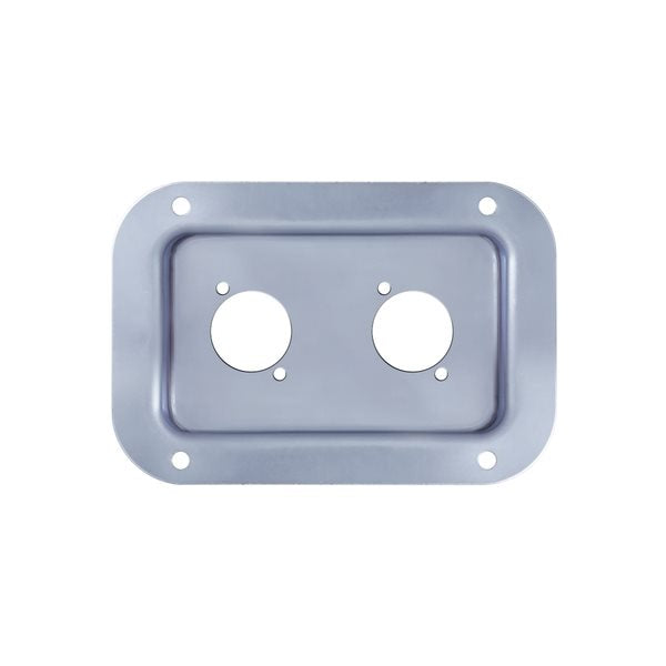 Recess Dish Punched for 2 x D-Series Connectors PennBrite D0604Z