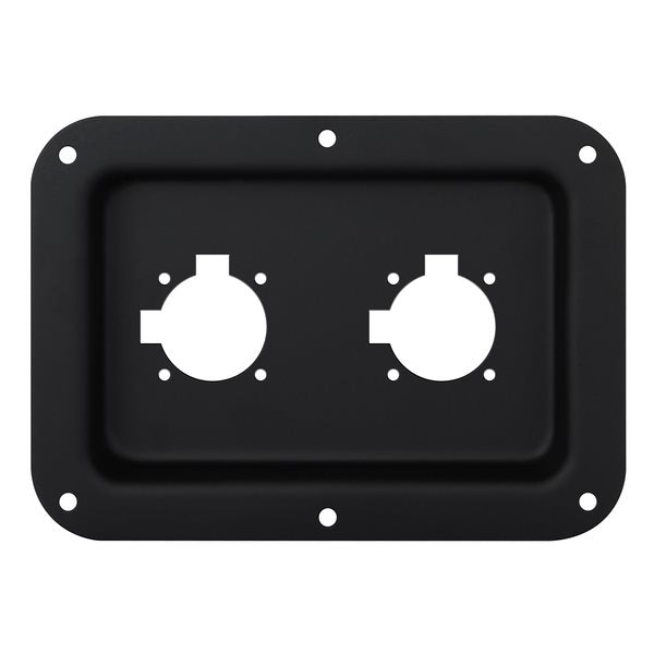 Recess Dish Punched for 2 x G-Series Connectors Black D028K