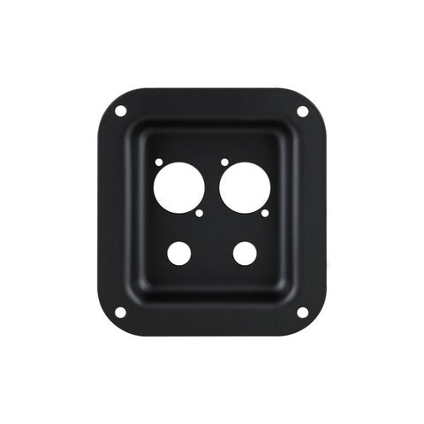 Black Dish Punched for 2 x Jack and 2 x Neutrik D-Series D01K