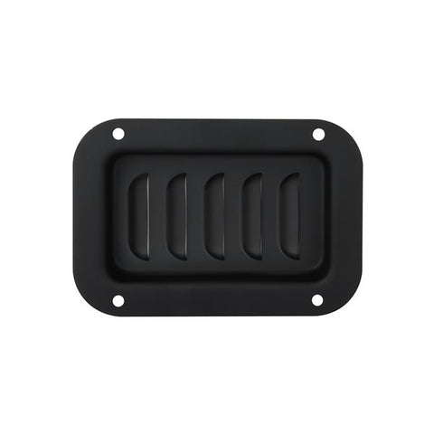 Black Vertical Louvered Dish D0516K