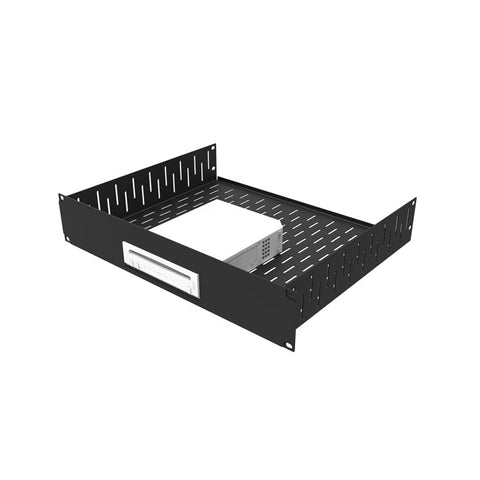 2U Black Rack Shelf With Custom Face Plate For WII R1498/2UK-WII