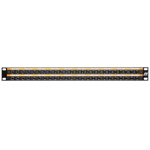 48-Way Longframe B Gauge Patchbay - Black Front Panel LF48-1O