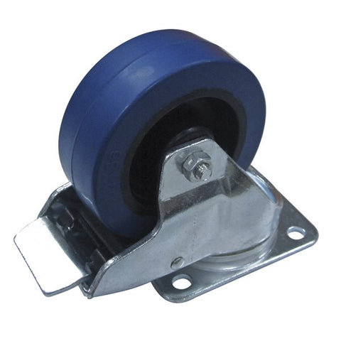 "100mm/3.94""  Heavy Duty Blue Castor Swivel Braked W9008-V6"