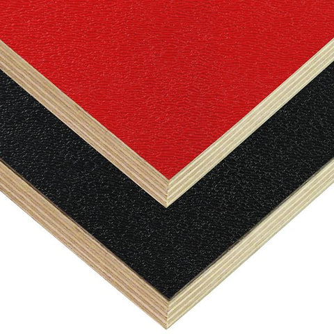 "8x4' Black Laminated Plywood Panel - Thickness: 12mm (1/2"") M842113CB"