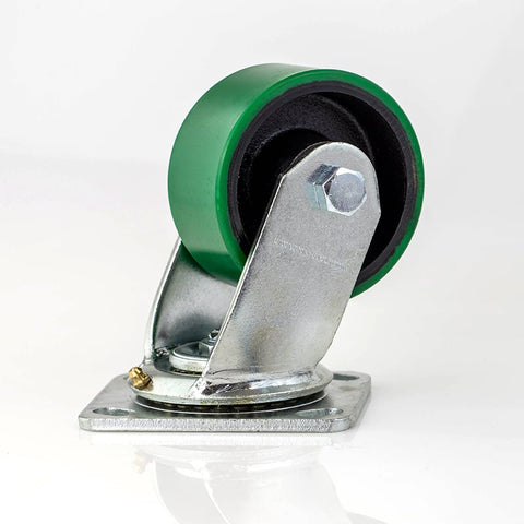 "100mm/3.94"" Heavy Duty Swivel Castor Green Wheel W0999"