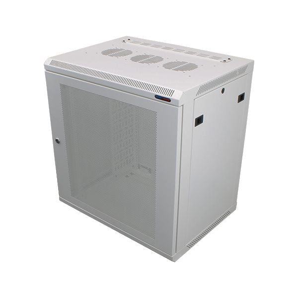 Wall Mount Rack Enclosure 12U 450mm/17.72 Inch Deep 1032 Rack Rail White Perforated Door R6412V-W-1032