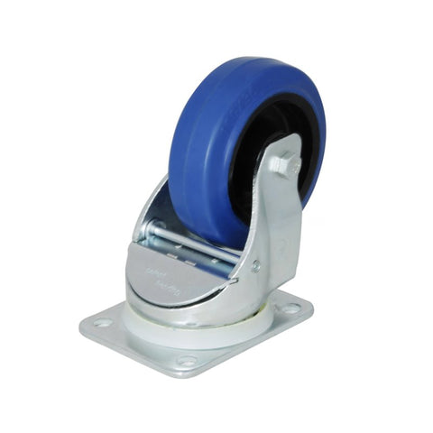 "Automatic Swivel Castor with 100mm/4"" Narrow Blue Wheel W0990"
