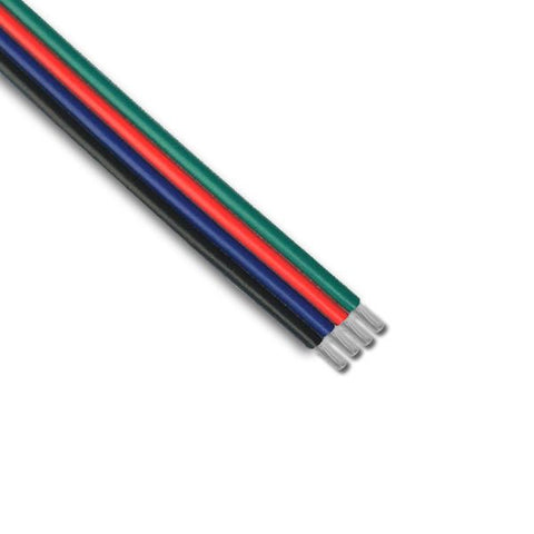 Led 4 Core Flat Cable 20awg 300v AWG20 B/Bl/R/Gr Wire