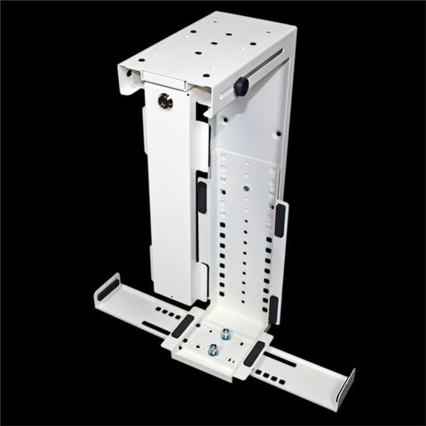Rigid Locking Computer Holder White CPU-87W/L