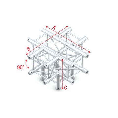MILOS CROSS + DOWN 5-WAY Pro-30 Square F Truss