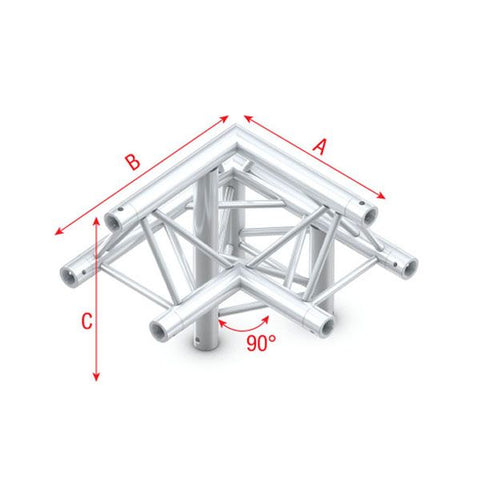 MILOS CORNER 90° APEX UP Pro-30 Triangle F Truss