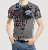 ACO Worlds 13 Jersey-Style Tee: Gray/Blue/Red Geometrics