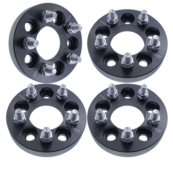 4pcs 25mm 5x100 Wheel Spacers Adapters | T6 6061 Billet | 12x1.5 Studs Chrysler Dodge Plymouth Toyota Pontiac