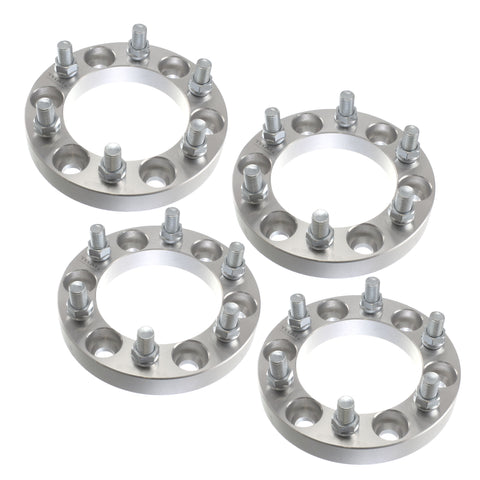 "(4) 1"" Chevy  GMC 6x5.5 (6x139.7) Wheel Spacers 14x1.5 studs for Cadillac Chevy GMC Trucks SUV Van"