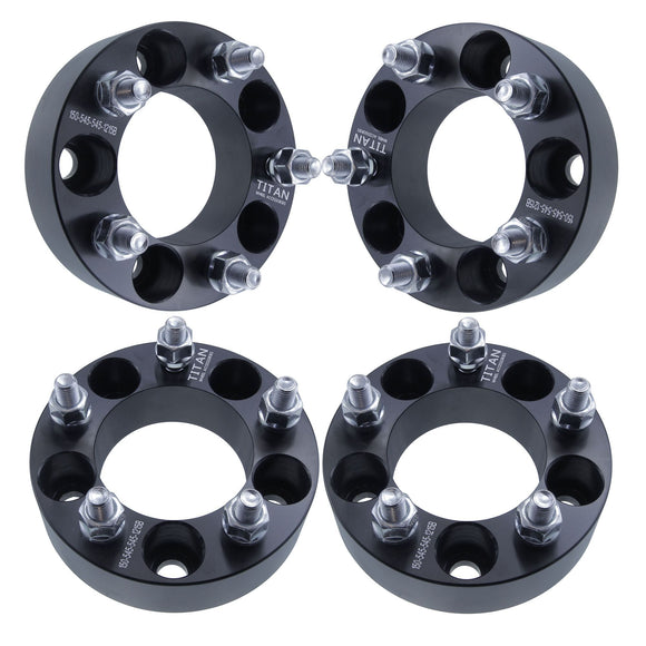 Set of 4 50mm Wheel Spacers | 5x114.3 | Fits Scion Toyota Lexus 5 Lug  12x1.5 Studs