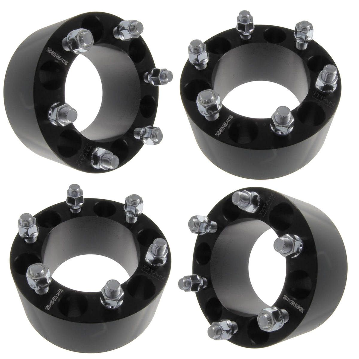 """6X5 5 Wheel Spacers >> (4) Chevy 3"""" ( 75mm ) 6x5.5 (6x139.7) Wheel Spacers Fits ..."""