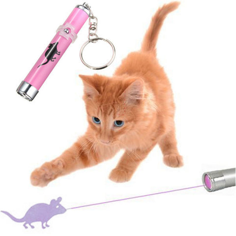 Portable Creative LED Laser Pointer light Pen With Bright Animation Mouse Shadow for Cats