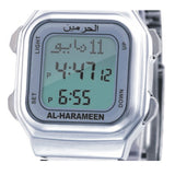 Azan Watch with  Qibla direction - Silver band