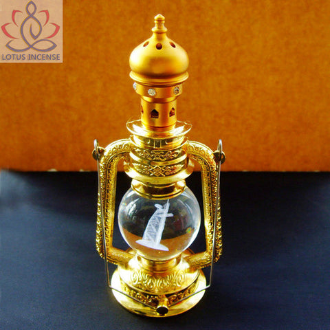 Portable Incense Burner Censer Brazier Vaporizer With Metal Butane Lighter