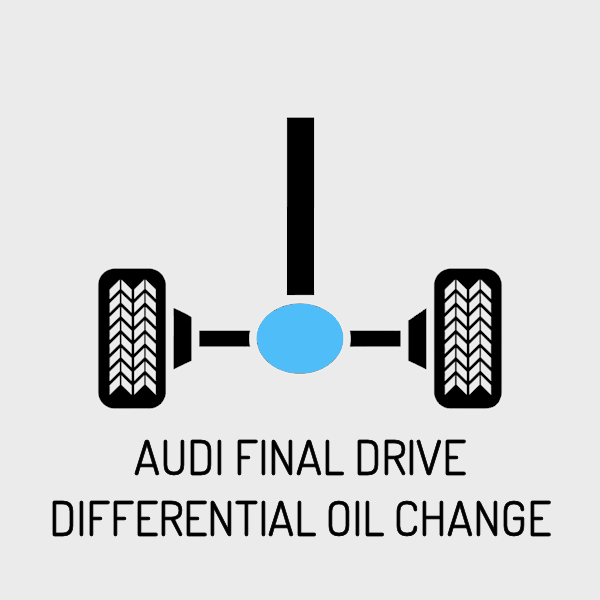 Audi Rear Final Drive Differential Oil Change - For Quattro Models