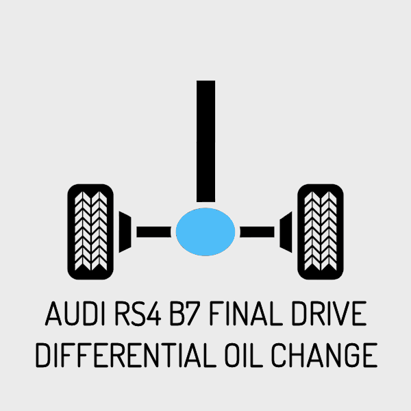 "AUDI RS4 B7 ""SPORT"" Final Drive Differential Oil Change"